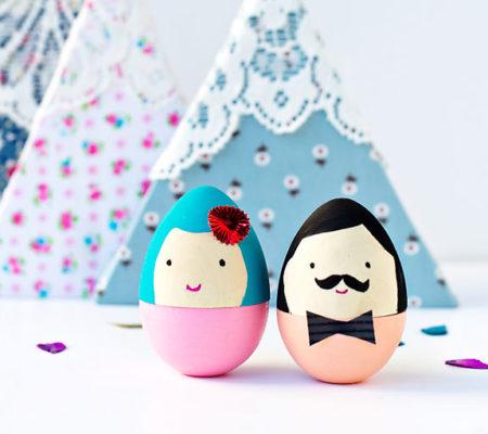 Мистер и миссис - раскрашиваем пасхальные яйца своими руками