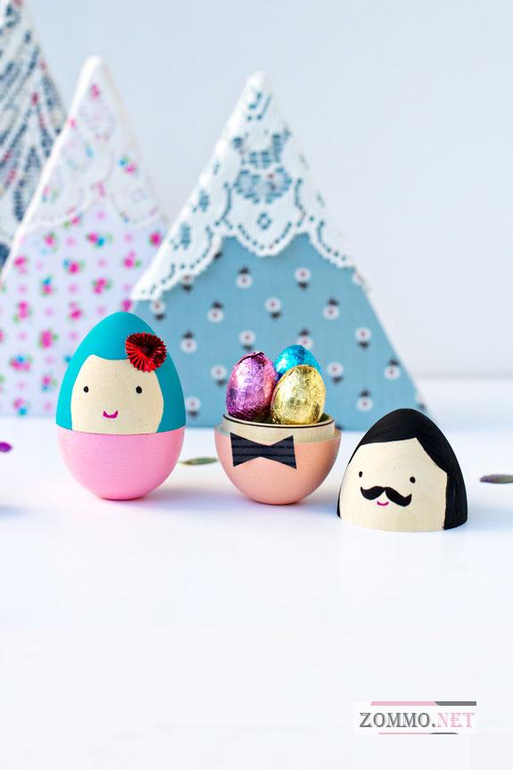 Наполняем яйца сладостями
