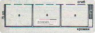 План раскладки при ширине ткани 150 см