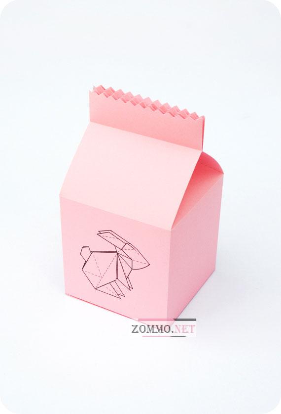 Коробочка с изображением зайчика