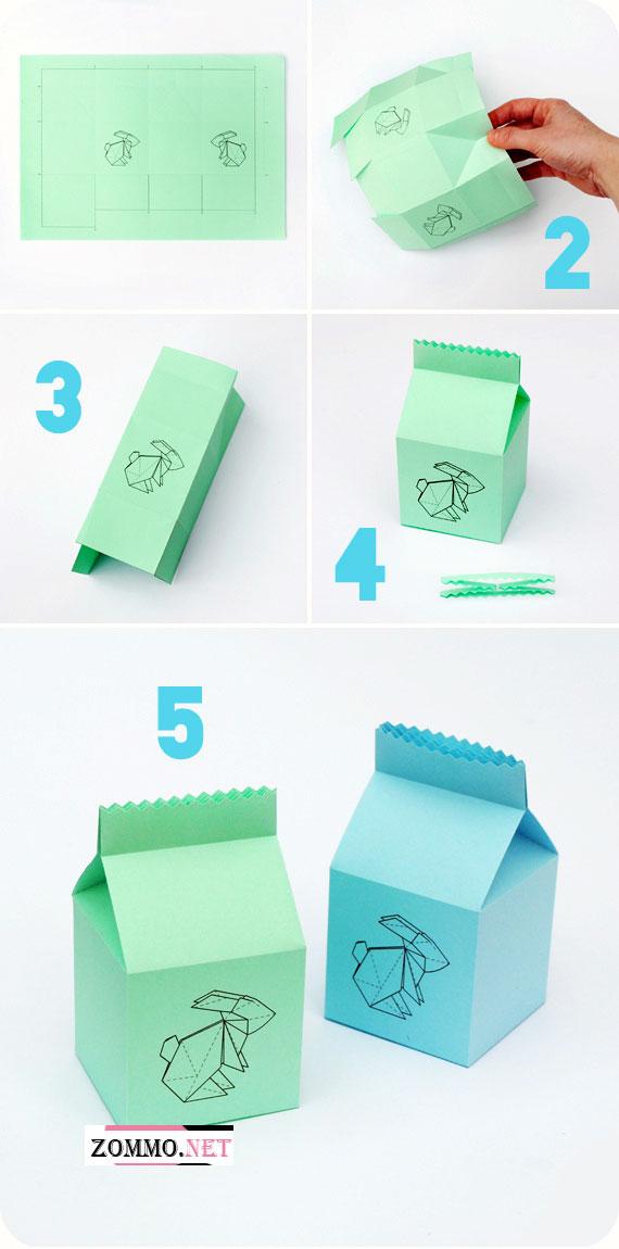 Как сделать коробочку с зайчиком своими руками