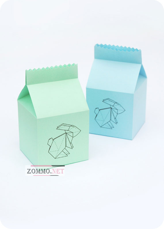 Бумажная упаковка(тетра пак) с зайчиком своими руками