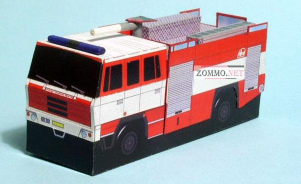 Модель пожарной машины TATRA 815 в 3Д