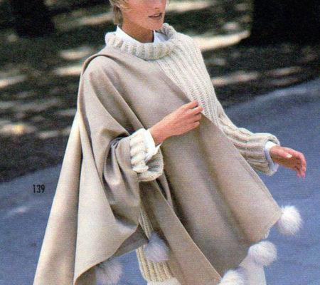 Винтажная шаль с помпонами для женщин