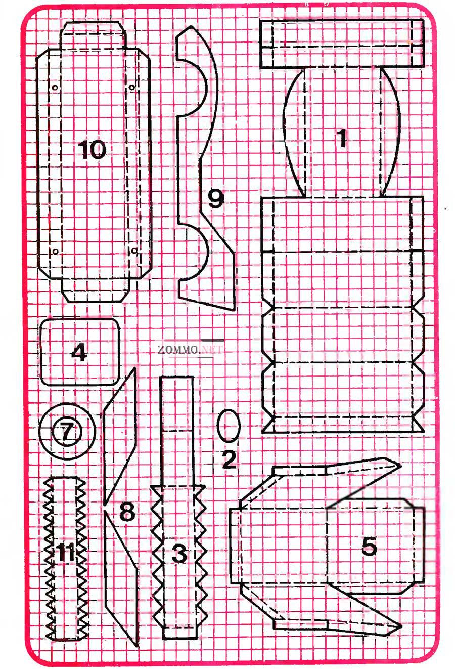 Машины развертки из картона схема