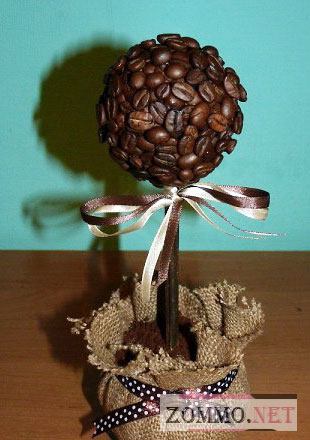 Дерево счастья из кофейных зерен