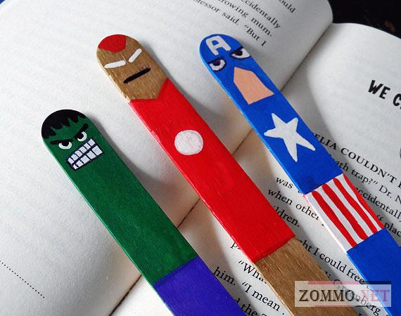 Закладки в виде супергероев