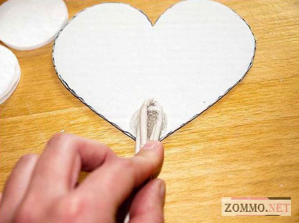 Сердце из кофе своими руками