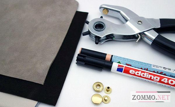 Инструменты и материалы для создания визитницы