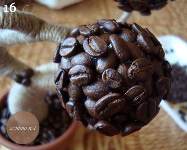 Кофейная веточка топиария