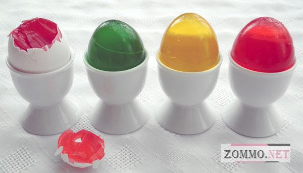 Яйца из желе
