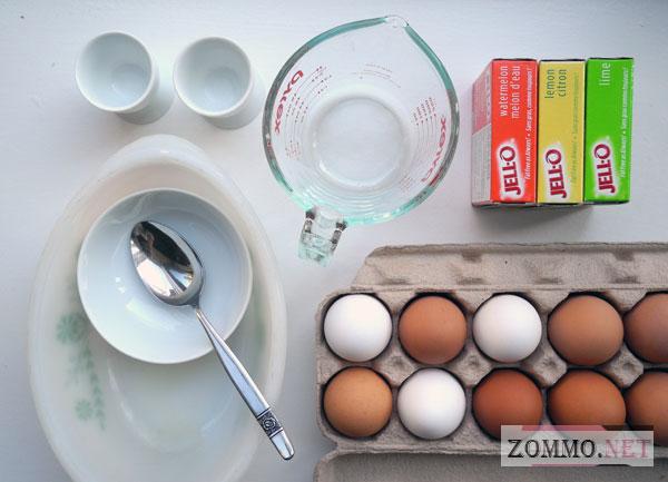 Ингредиенты для создания яйца с желе