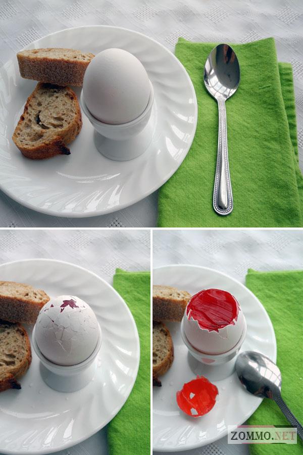 Пасхальные яйца с желе внутри