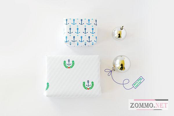 Принты для подарочной бумаги