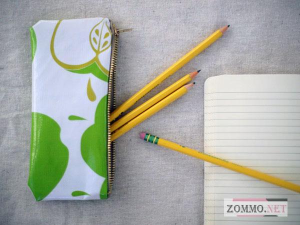 Простой пенал для ручек и карандашей своими руками