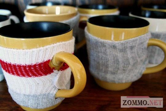 Чехол для чашки из носка