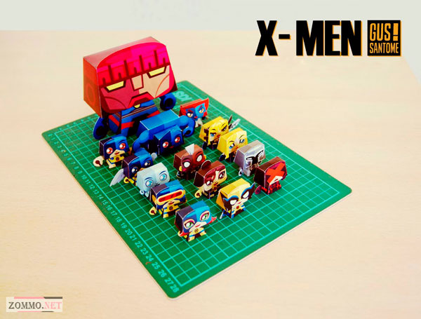 x-men paper craft