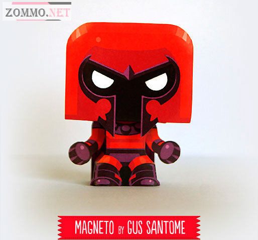 Magneto paper craft