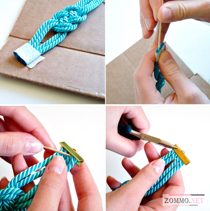 Как сделать браслет из веревки