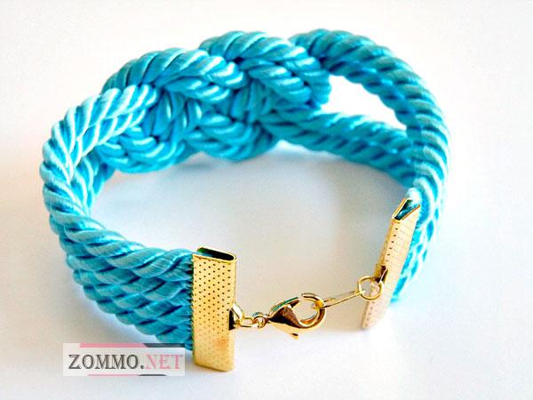 Плетение браслетов из шнурков веревок