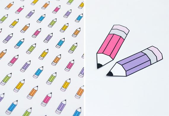 Подарочный принт с карандашами