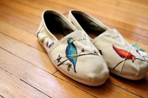 Кеды с птичками