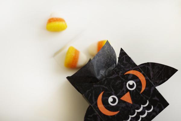 Коробочка со сладостями в виде совы