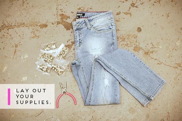 Материалы для украшения джинс