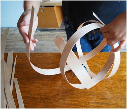 Делаем овальную форму люстры