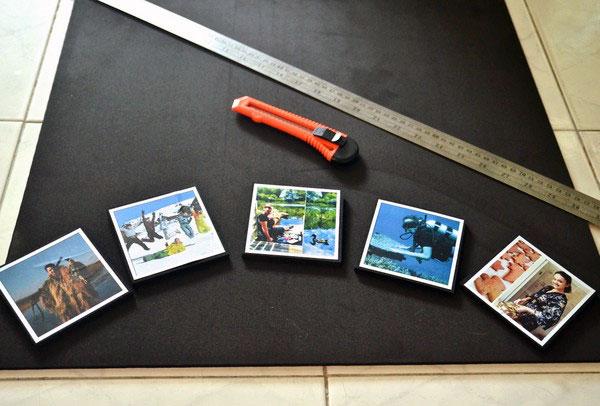 Вклеиваем фотографии в рамочки