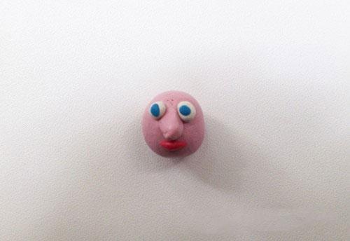 Лицо из пластилина