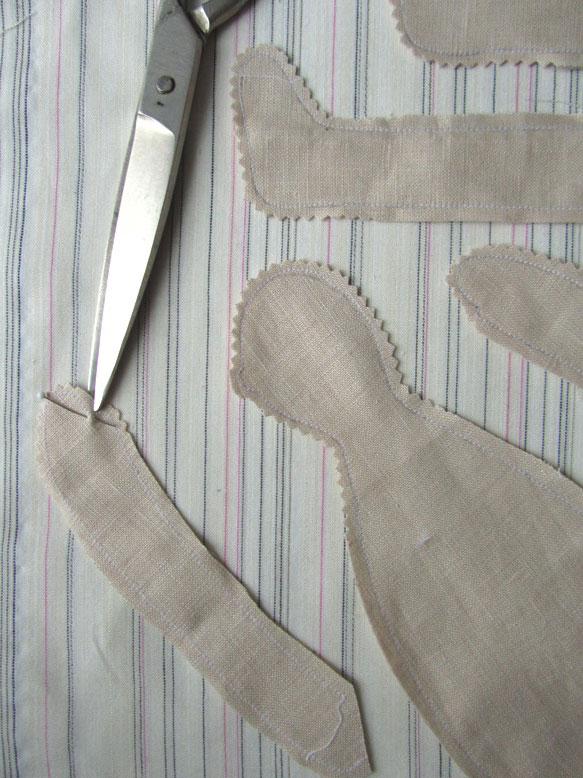 Заготовки ангелов из ткани