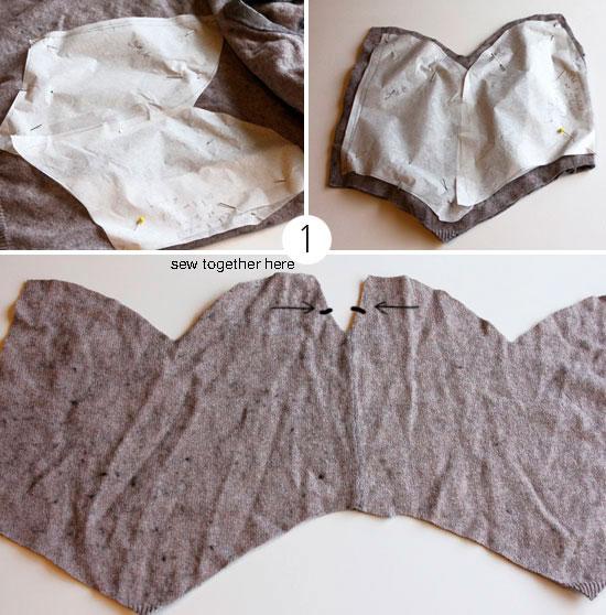 Как сшить шапку из старого свитера