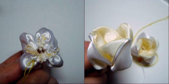 Канзаши цветок тюльпан готов