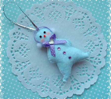 Снеговик из фетра