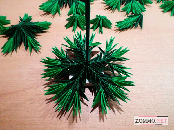 Модульное оригами елочка