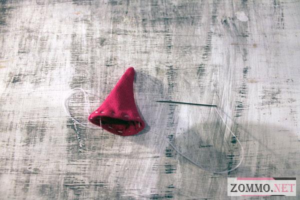 Шапочка из ткани