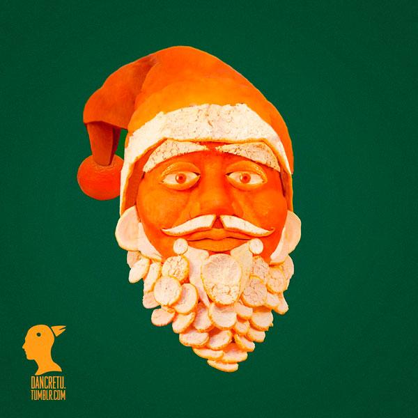 Дед Мороз и шкурок апельсина