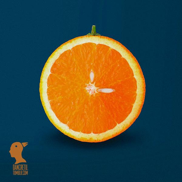 Часы из апельсина