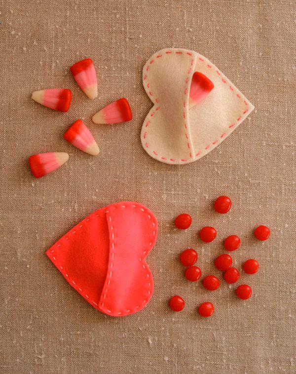 Сердце наполненное сладостями
