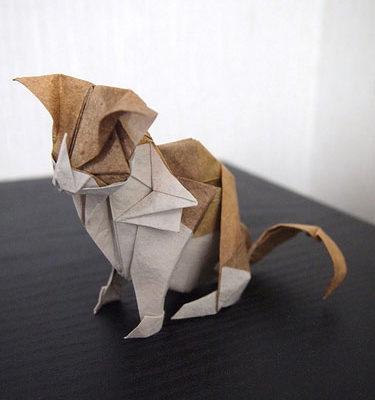 Оригами котейка