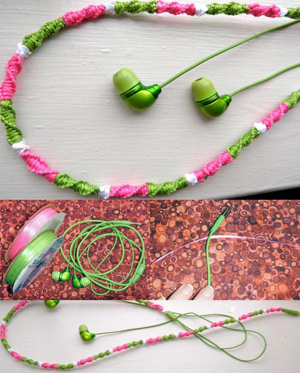 Наушники с разноцветным шнуром