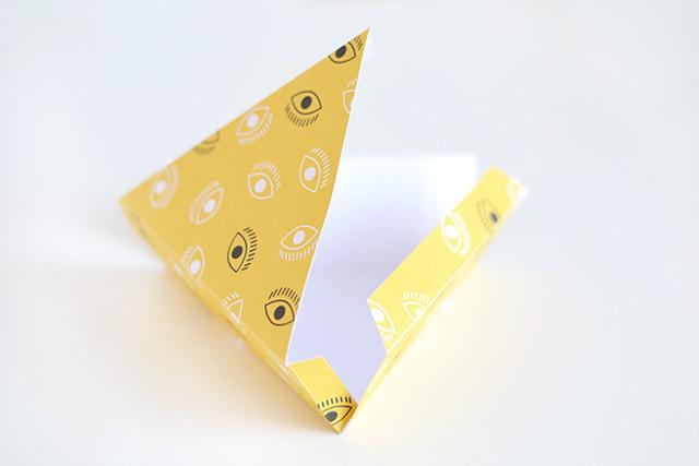Заготовка треугольной коробочки
