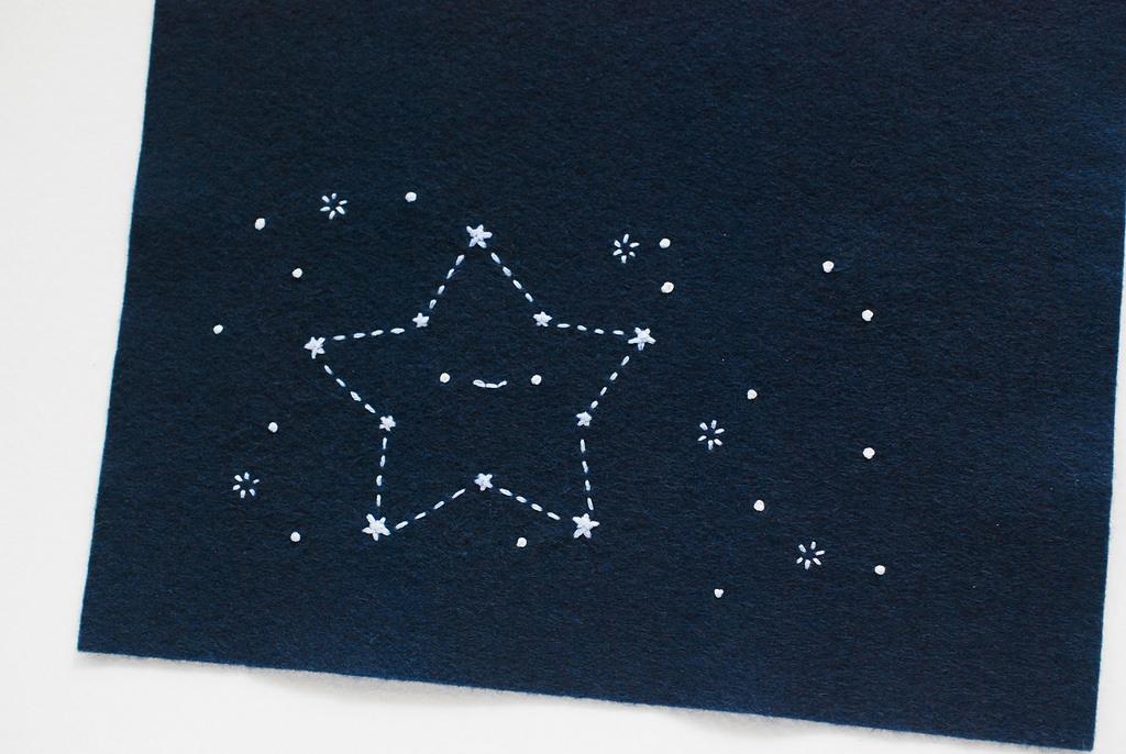 Фетр и звездное небо