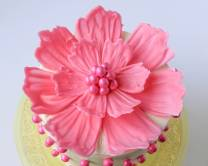 Шоколадные цветы для украшения торта 12