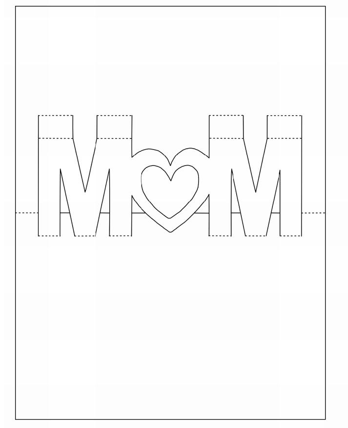 Киригами открытки шаблоны на день рождения 70