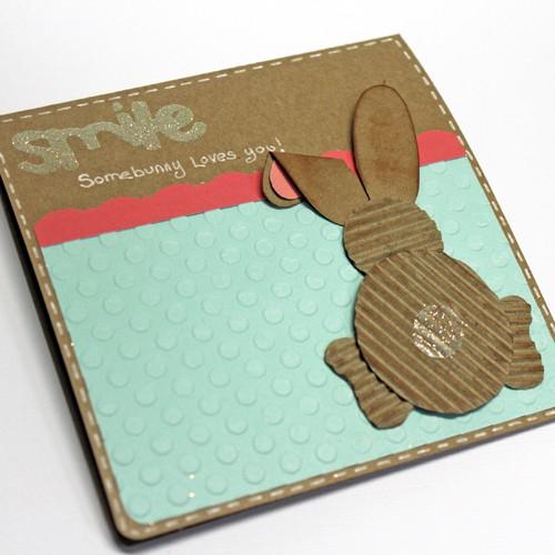 Открытка с пасхальным кроликом своими руками