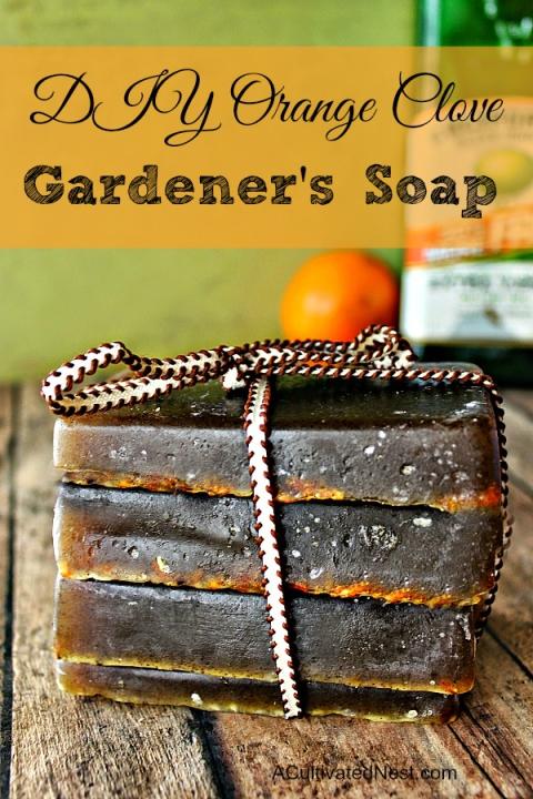 Апельсиновое мыло своими руками