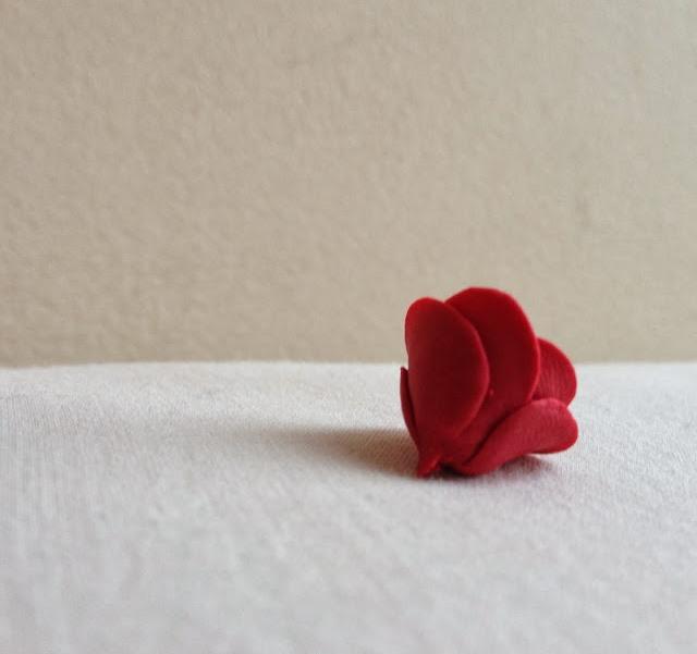 Букет из полимерной глины-роза