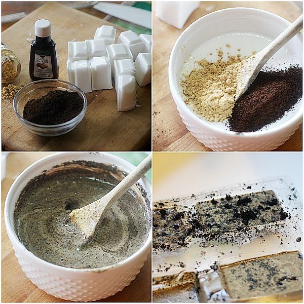 процесс изготовления кофейно-имбирного мыла своими руками